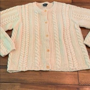 NWT J Crew 100% Wool Fisherman Cable Knit Cardigan